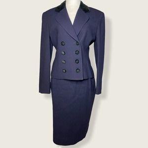 Christian Dior Vintage 3 Piece Suit Skirt Pant Set